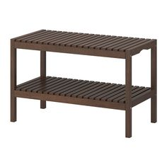 MOLGER Bench - dark brown, from IKEA. For useful applications and ideas using this bench, check out this article: http://www.apartmenttherapy.com/molger-bench-218457