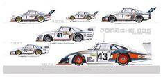 Photo of the day: Evolution of the Martini Porsche 935 - Motorsport Retro Porsche 935, Carros Porsche, Porsche Cars, Porsche Motorsport, Cool Sports Cars, Sport Cars, Race Cars, Martini Racing, Le Mans