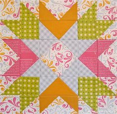 You Are Here Quilt Block | Design a bright and cheery star block with this printable quilting tutorial!