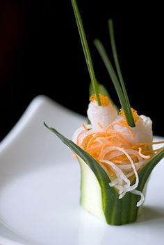 #plating #presentation Voted one of the best sushi restaurants in the U.S., San Francisco's Sushi Ran delivers art on a plate.