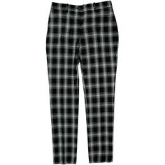Pre-owned Michael Kors Pants ($75) ❤ liked on Polyvore featuring pants, bottoms, clothing - trousers, black, michael kors, zipper trousers, plaid trousers, button pants and michael kors pants