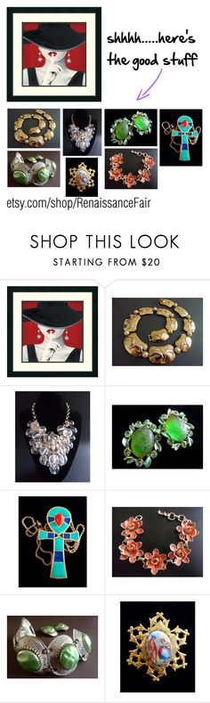 shhhhh.....here's the good stuff by renaissance-fair on Polyvore featuring Hattie Carnegie, CORO, Selro and Courrèges