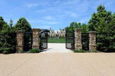 Double stone pillars #gate