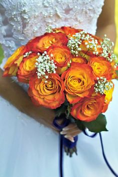 my bouquet... would replace baby breath with something fall (ie cranberry stem or another flower)