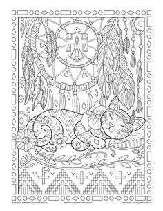 Dream Catcher : Creative Kittens Coloring Book by Marjorie Sarnat