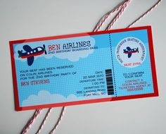 Airplane Boarding Pass Birthday Customized by arpartyprintables, $18.00 Birthday Template, Birthday Invitation Templates, Printable Invitations, Party Printables, Birthday Party Invitations, Invites, Planes Birthday, Planes Party, Airplane Party