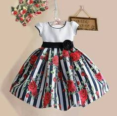 Cheap dress for your figure, Buy Quality dresse directly from China dress read Suppliers: New Summer Baby Girls Floral Dress with cap European Style Designer Bow Children Dresses Kids Clothes - Kids' Clothing Little Girl Dresses, Girls Dresses, Flower Girl Dresses, Baby Dresses, Dress Girl, Flower Girls, Fashion Kids, Fashion Clothes, Fashion Art