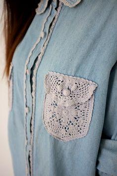 Universo da Moda & Cia.: Roupas com aplicação de crochê