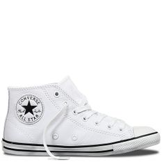 48e20d5c1b32c8 Chuck Taylor All Star Dainty Leather Mid White