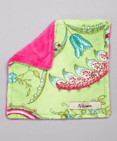 Take a look at this Green Antique Floral Velour Crinkleez Lovey by My Blankee on #zulily today!