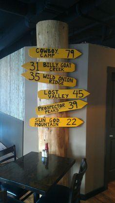 Sign Post Mile One Eating House, in Pemberton Gateway VillageSuites.Hotel