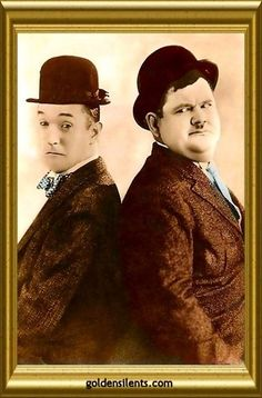 Stan Laurel and Oliver Hardy - The Perfect Silent Film Comedy Team - goldensilents.com