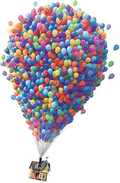 UP by redscarf Up House Pixar, Up Movie House, Disney Up House, Up The Movie, Up Pixar, Disney Balloons, Up Balloons, Cute Disney, Disney Art