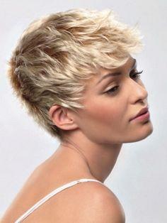 Very short hair styles women Pixie Haircut Styles, Pixie Hairstyles, Curly Hair Styles, Blonde Hairstyles, Layered Hairstyles, Cropped Hairstyles, Classy Hairstyles, Hairstyle Short, Style Hairstyle