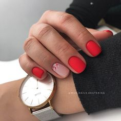 The Effective Pictures We Offer You About DIY for Dogs treats A quality picture can tell you many th Shellac Nails, Manicure And Pedicure, Cute Nails, Pretty Nails, Short Red Nails, Square Nail Designs, Nagellack Trends, Easter Nails, Stylish Nails