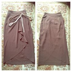 Moschino Couture Skirt Size 6 Nice Condition ❤️ This is a Moschino Couture Made in Italy Skirt with detail on front the measurements are 12.5 for the waist and for length 35.5 its a very high quality and chick piece if you have any questions let me know! Moschino Skirts