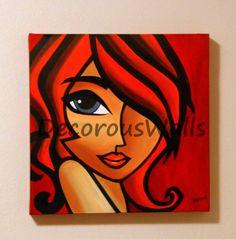Stylish Girl by DecorousWalls on Etsy