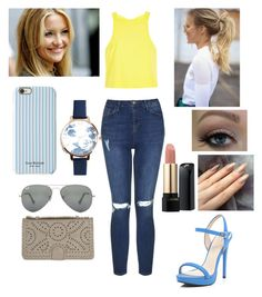 """""""My day as Kate Hudson"""" by krissikat ❤ liked on Polyvore featuring Topshop, River Island, Ray-Ban, Isaac Mizrahi, Olivia Burton and Lancôme"""