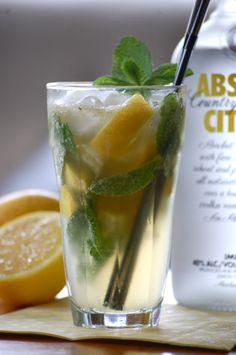 mojito with absolut citron