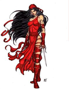 Elektra: death marked by crimsonsea