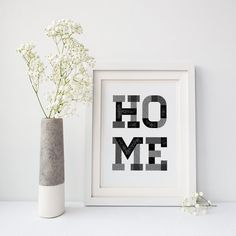 'HOME' Living Room Decor Print. Available from the March Hare Printing Co. on Etsy as a high-quality art print on paper, or a digital download to print yourself. Click the photo or the 'visit' button above to browse the shop or to buy in your own currency - we ship anywhere!