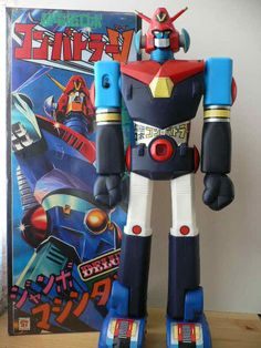 My Jumbo Machinder Collection Vintage Robots, Vintage Toys, Robot Cartoon, Japanese Robot, Toy Packaging, Old School Toys, Japanese Characters, Super Robot, Robot Design