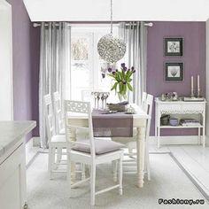 Фиолетовый цвет в интерьере / фиолетовая комната