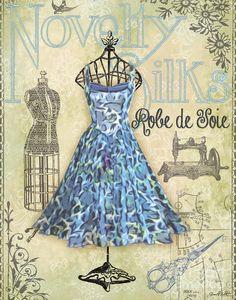 French Dress Shop-b Digital Art  - French Dress Shop-b Fine Art Print