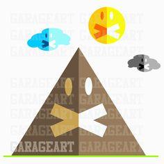 Friends vector pyramide svg, pdf, ai, eps, cdr, dxf, png (300dpi) de Garageartdesign en Etsy