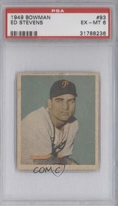 Ed Stevens RC (Rookie Card) PSA GRADED 6 Edward Lee Stevens, Pittsburgh Pirates (Baseball Card) 1949 Bowman #93 by Bowman. $28.99. 1949 Bowman #93 - Ed Stevens RC (Rookie Card) PSA GRADED 6