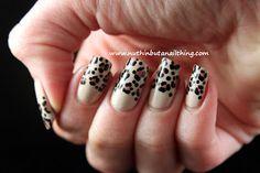 Half-moon leopard print