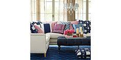 Custom Upholstered Spruce Street sectional sofa (left facing) in Designer Fabrics | Serena & Lily