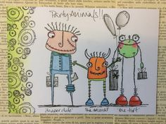 The monster mash - all out on the razz....by Jo Firth-Young with Elena's amazing stamps.