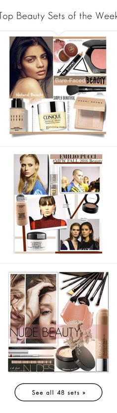 """""""Top Beauty Sets of the Week"""" by polyvore ❤ liked on Polyvore featuring beauty, Bobbi Brown Cosmetics, H&M, NARS Cosmetics, Lancôme, The BrowGal By Tonya Crooks, Clinique, Vita Liberata, Beauty and naturalbeauty"""