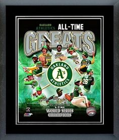 Oakland Athletics All Time Greats Framed With double black matting Ready To Hang- Awesome & Beautiful