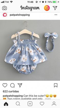 Baby Girl sleeveless dress with flower print and baby headband - Baby Girl Outfits Cute Little Baby Girl, Cute Baby Girl Outfits, Cute Baby Clothes, Baby Girl Dresses, Kids Outfits, Baby Boy, Baby Girls, Sun Dresses, Baby Clothes For Girls