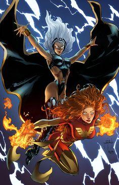 Storm and Phoenix by JasonMetcalf.deviantart.com on @DeviantArt