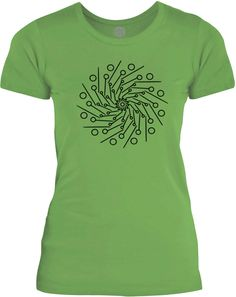 Big Texas Pin Wheel Mandala (Black) Womens Fine Jersey T-Shirt