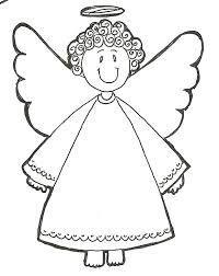 Resultado de imagem para anjo da guarda desenho para colorir