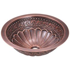 Brilliant details and an intricate design make this MR Direct single-bowl copper bathroom sink the perfect addition to your bathroom. The stain-resistant properties of the metal make this sink an excellent addition to busy bathrooms.