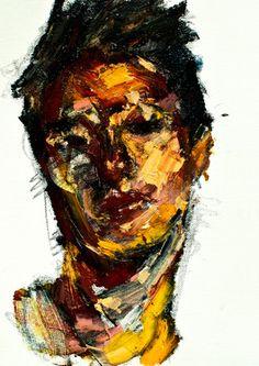 "Saatchi Online Artist Jaeyeol Han; Painting, ""Passersby, Self-Portrait June"" #art"