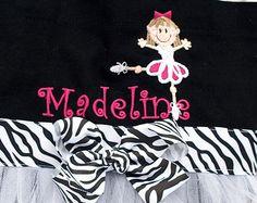 Embroidered Dance Bag Black Bag with Hot Pink and por naptime21