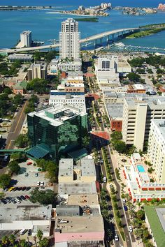 Downtown Clearwater, FL looking toward the beach.  Make sure you visit the Cleveland Street District!
