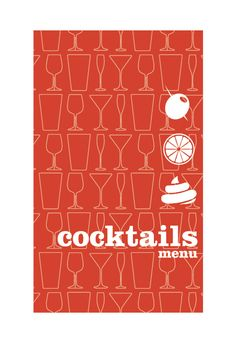 Cocktail Menu by Maria Uribe, via Behance