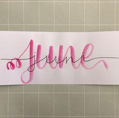 #juni#june#brushlettering #lettereveryday #brushcalligraphy #handlettering #handletteren#letteren#lettering#brushcalligraphy Juni, Mixed Media, Instagram, Home Decor, Decoration Home, Interior Design, Home Interior Design, Mix Media, Mixed Media Art