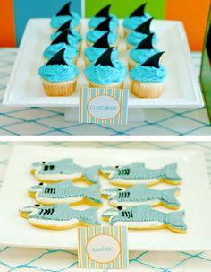 Baby Guide Festa Infantil: Inspiração: Decoração Surf para Meninos First Birthday Parties, Birthday Party Themes, First Birthdays, Aloha Party, Beach Party, Luau Pool Parties, Beach Baby Showers, Shark Party, Baby Shark