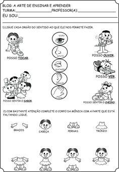 A Arte de Ensinar e Aprender: Atividades Orgãos do sentido e Corpo humano