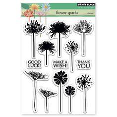 Penny Black Transparent Stamp Set - Flower Sparks