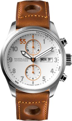 Raidillon Watch Timeless Chronograph Limited Edition Watch available to buy online from with free UK delivery. Sport Watches, Cool Watches, Watches For Men, Timex Watches, Bracelet Cuir, Men's Accessories, Beautiful Watches, Luxury Watches, Fashion Watches