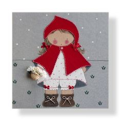 ;-)) Sewing Appliques, Applique Patterns, Applique Quilts, Felt Crafts, Paper Crafts, Sewing Crafts, Sewing Projects, Girly Gifts, Red Riding Hood